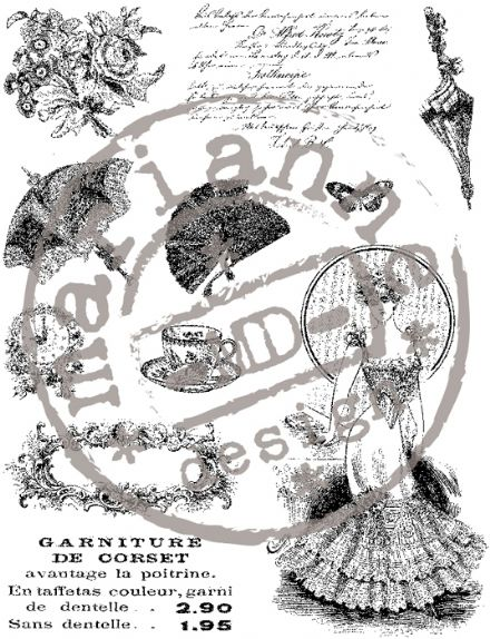 CS0864 ~ VICTORIAN LADIES 2 ~  Marianne Designs Clear stamp